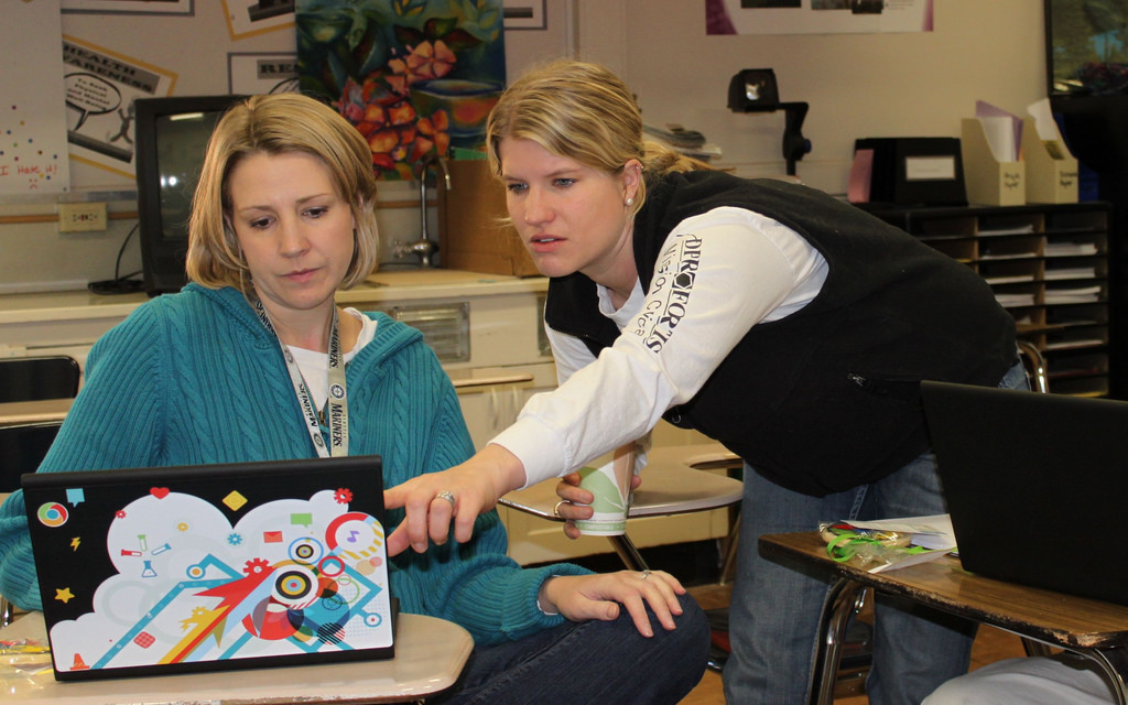 CCMS teachers learning about Chromebooks