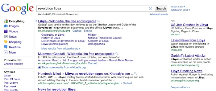 Libya search results