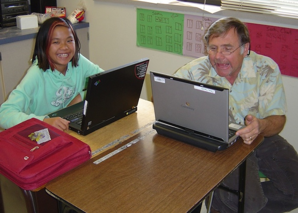CCMS student and teacher, Casey Callan, during rollout week