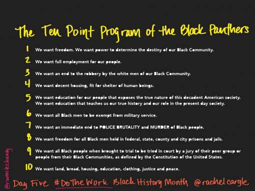Day 5 — The Ten Points of the Black Panthers
