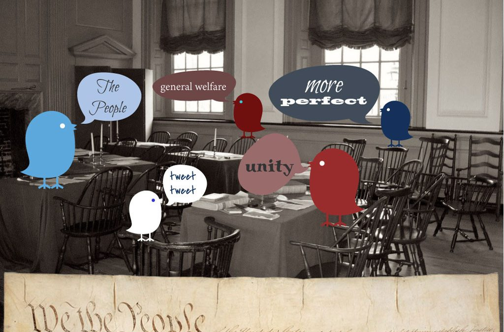 The Preamble in 140 Characters